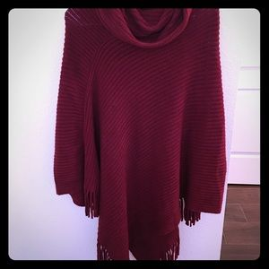 Jackets & Blazers - Boutique Poncho with fringe